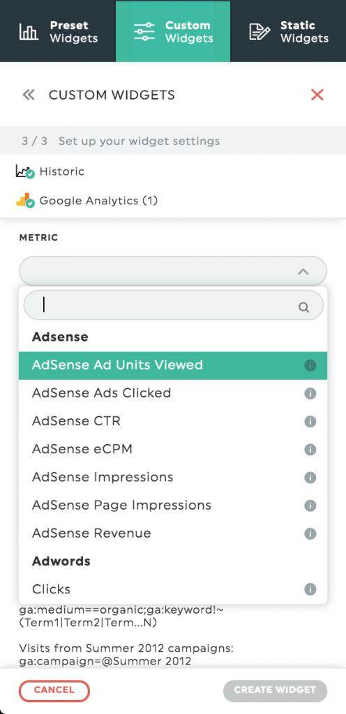 AdSense metrics