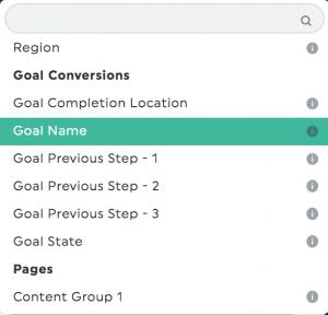 Goals dimensions