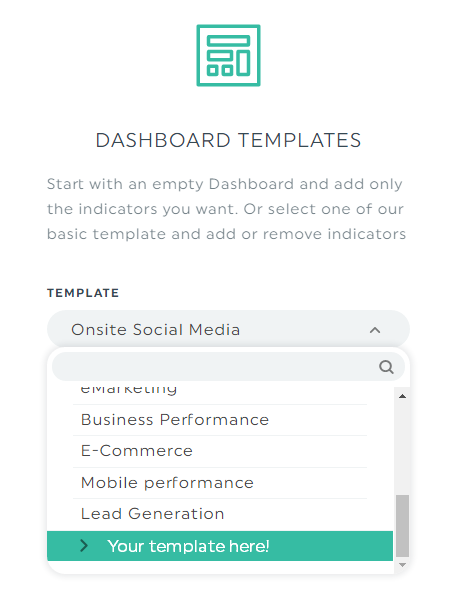 Your custom dashboard template for GA or Adwords