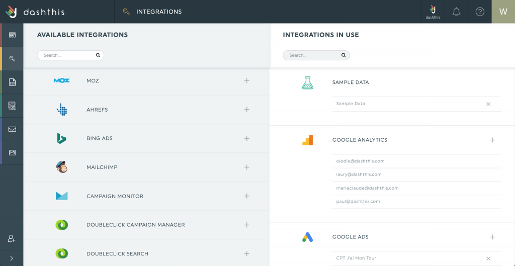 Integration manager Mailchimp