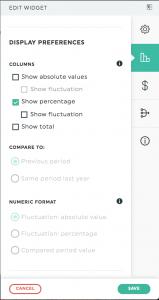 Data display 2 Edit widget