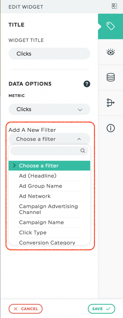 AdWords Custom Filtering