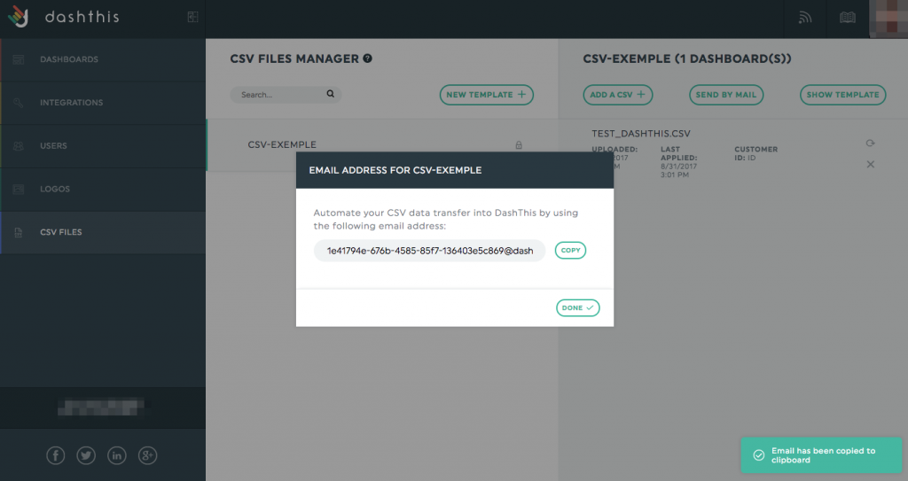 CSV File Send by Email