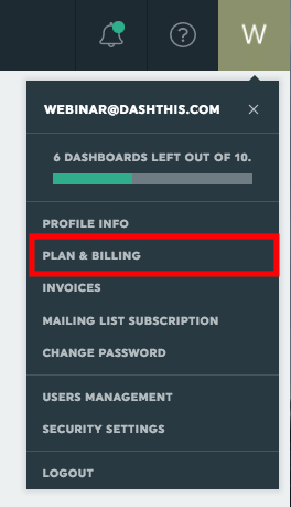plan and billing