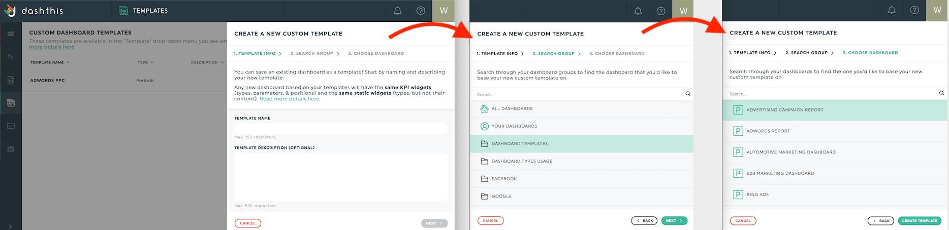 New custom templates