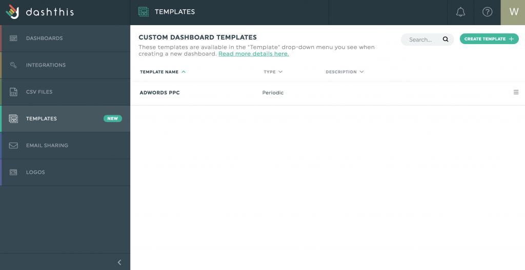 Admin menu templates